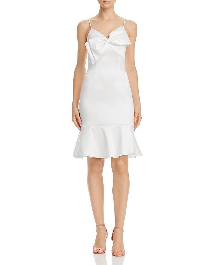Avery G - Satin Bow-Detail Dress