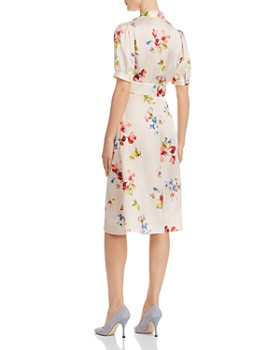 Jill Jill Stuart - Tie-Neck Floral Dress