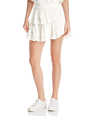 Generation Love Skirts PAMELA EMBROIDERED TIERED MINI SKIRT
