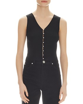 Sandro - Simone Sleeveless V-Neck Sweater