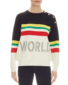 c5ec8b7f3 Sandro - Ursulla Color-Block Sweater ...