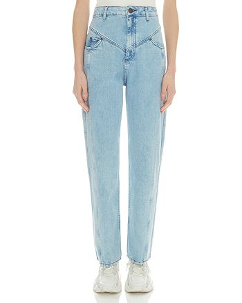 Sandro - Zined High-Rise Straight-Leg Jeans