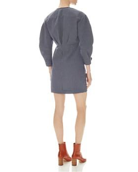 Sandro - Kassy Striped V-Neck Dress