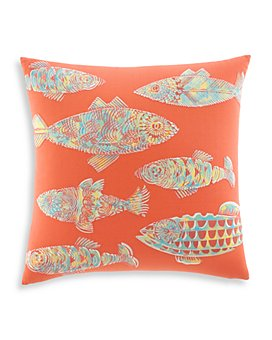 "Tommy Bahama - Batik Fish Decorative Pillow, 20"" x 20"""