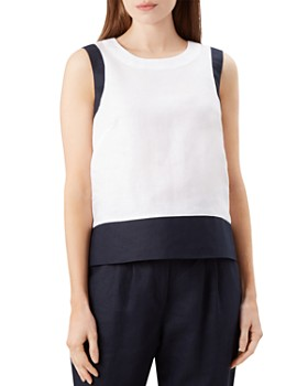 195d6160f6d8e HOBBS LONDON - Halle Color-Block Linen Top ...