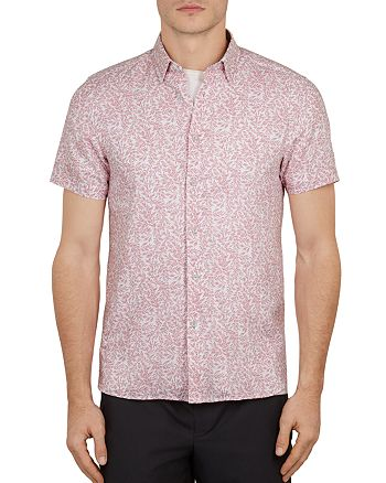 Ted Baker - Leemars Floral Print Slim Fit Shirt