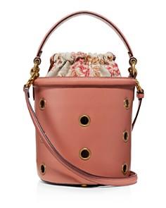 COACH - Grommets Medium Drawstring Leather Bucket Bag