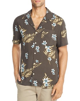 e333bac86 JACHS NY - Short-Sleeve Floral-Print Classic Fit Shirt - 100% Exclusive ...