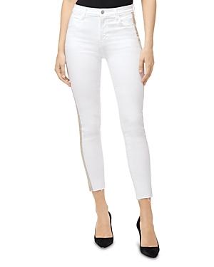 J Brand Jeans ALANA CROP SKINNY JEANS IN BORDERLINE