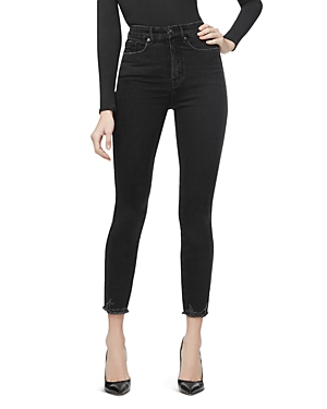 Good American Good Curve Crop Skinny Jeans in Black054-Women