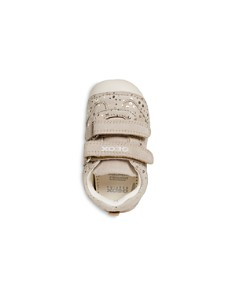 Geox - Girls' B Tutim VELCRO® Perforated-Leather Sneakers - Baby, Walker