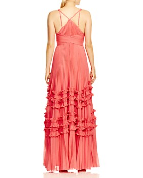 8cc3d3447c1 ... HALSTON HERITAGE - Pleated Ruffle-Trimmed Gown