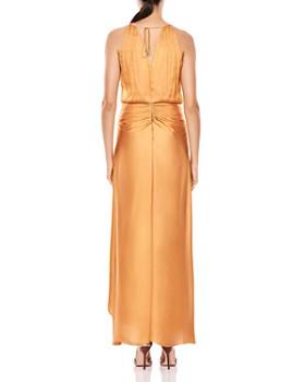 HALSTON HERITAGE - Shirred Satin Gown
