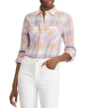 Ralph Lauren - Plaid Plissé-Texture Shirt