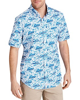 Vineyard Vines - Murray Short-Sleeve Sailboat-Print Classic Fit Button-Down Shirt