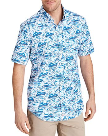 Vineyard Vines - Murray Short-Sleeve Sailboat-Print Classic Fit Button-Down Shirt