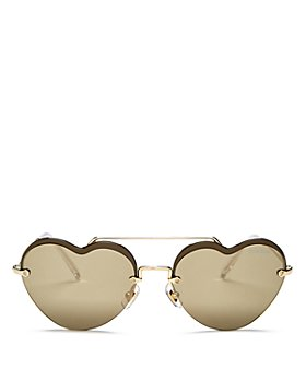 Miu Miu - Women's Brow Bar Heart Sunglasses, 58mm