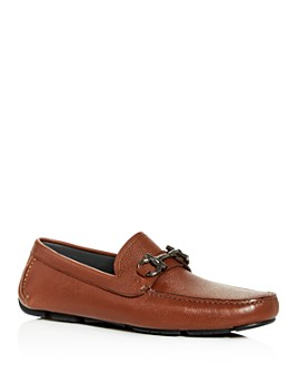 Salvatore Ferragamo - Men's Parigi Leather Moc-Toe Drivers