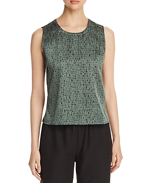 Eileen Fisher Tops PRINTED SLEEVELESS TOP