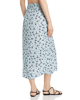 Paper London - Siren Printed-Silk Skirt