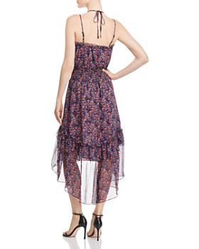 Parker - Amethyst Floral Silk Dress