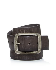 John Varvatos Star USA - Men's Crackled Leather Belt