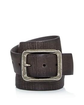 77e684fc28c John Varvatos Star USA - Men s Crackled Leather Belt