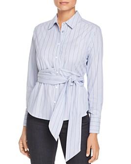 Scotch & Soda - Striped Belted Shirt
