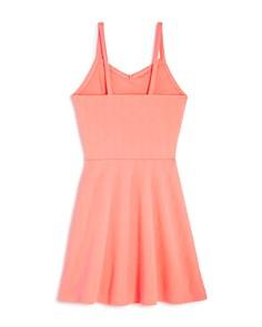 AQUA - Girls' Textured Neon Dress, Big Kid - 100% Exclusive