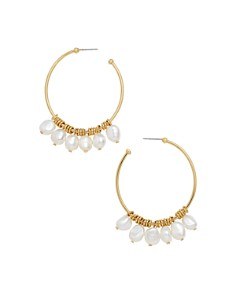 BAUBLEBAR - Marquita Cultured Freshwater Pearl Hoop Earrings