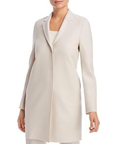 HARRIS WHARF - Lightweight Wool Cocoon Coat