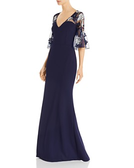 Aidan Mattox - Embellished Crepe Gown