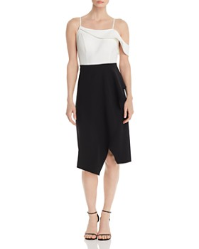 Laundry by Shelli Segal - Cold-Shoulder Color-Block Dress