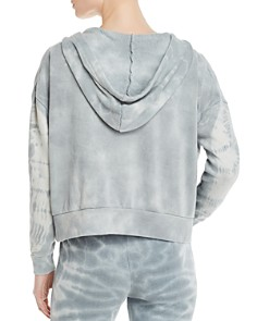 Vintage Havana - Tie-Dye Lace-Up Hooded Sweatshirt