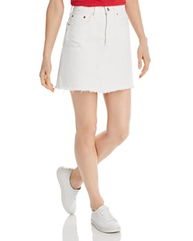 Levi's - High-Rise Iconic Denim Skirt in Pearly White
