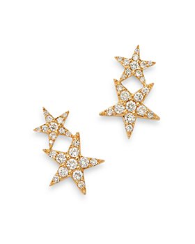 Bloomingdale's - Diamond Double Star Ear Climber Earrings in 14K Yellow Gold, 0.35 ct. t.w. - 100% Exclusive