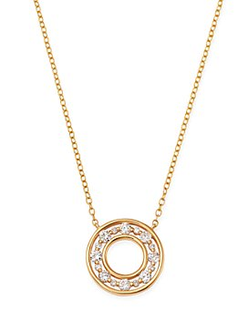 Bloomingdale's - Diamond Circle Pendant Necklace in 14K Yellow Gold, 0.45 ct. t.w. - 100% Exclusive