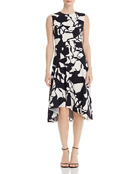 71464073c94 Narciso Rodriguez - Printed Silk Stretch Dress ...