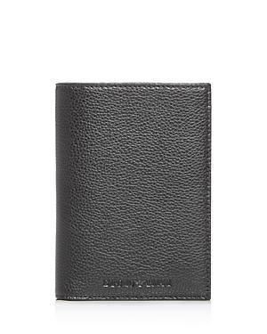 Emporio Armani Vitello Bottalato Leather Passport Holder