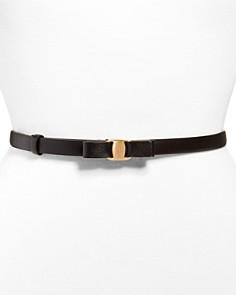 Salvatore Ferragamo - Women's Slim Leather Belt