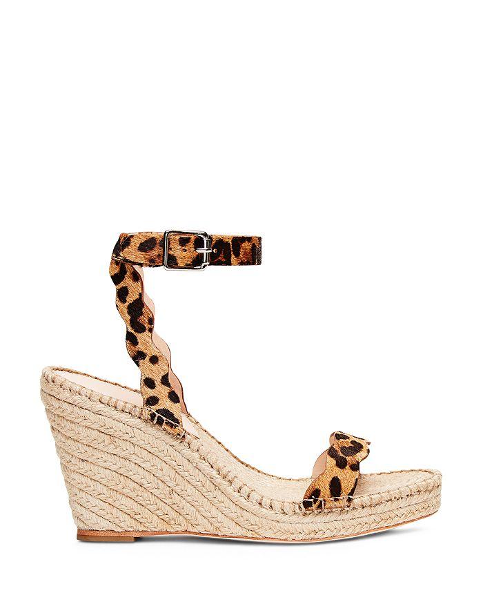 5dce086abcd Women's Parker Leopard-Print Calf Hair Espadrille Wedge Sandals