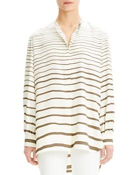 13fb806d1ce Theory - Striped-Silk Tunic Top ...