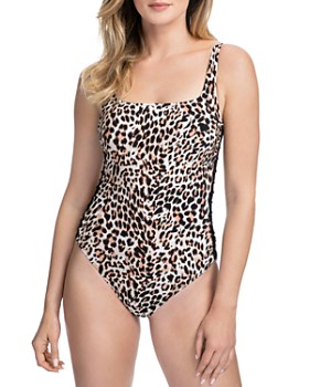 Profile by Gottex - Wild Thing Square Neck One Piece Swimsuit
