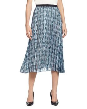 32c85f66ee T Tahari - Printed Pleated Skirt ...