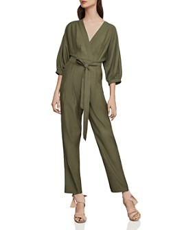 BCBGMAXAZRIA - Crossover Belted Jumpsuit