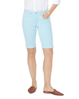 835193687a NYDJ - Briella Cuffed Denim Bermuda Shorts in Blue Glow ...