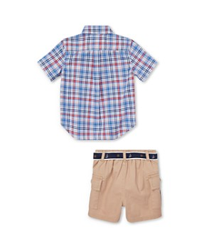 Ralph Lauren - Boys' Plaid Camp Shirt & Cargo Shorts Set - Baby