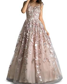 da360007a6f69 Basix - Floral-Embellished Ball Gown ...