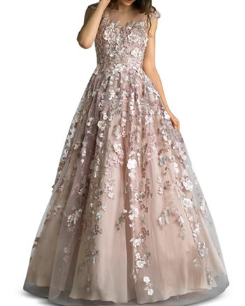 Basix - Floral-Embellished Ball Gown