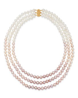 """Bloomingdale's - Cultured Freshwater Pearl Three-Strand Gradient Necklace, 22.25"""" - 100% Exclusive"""